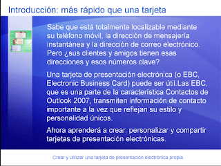 tarjeta de presentación electrónica outlook