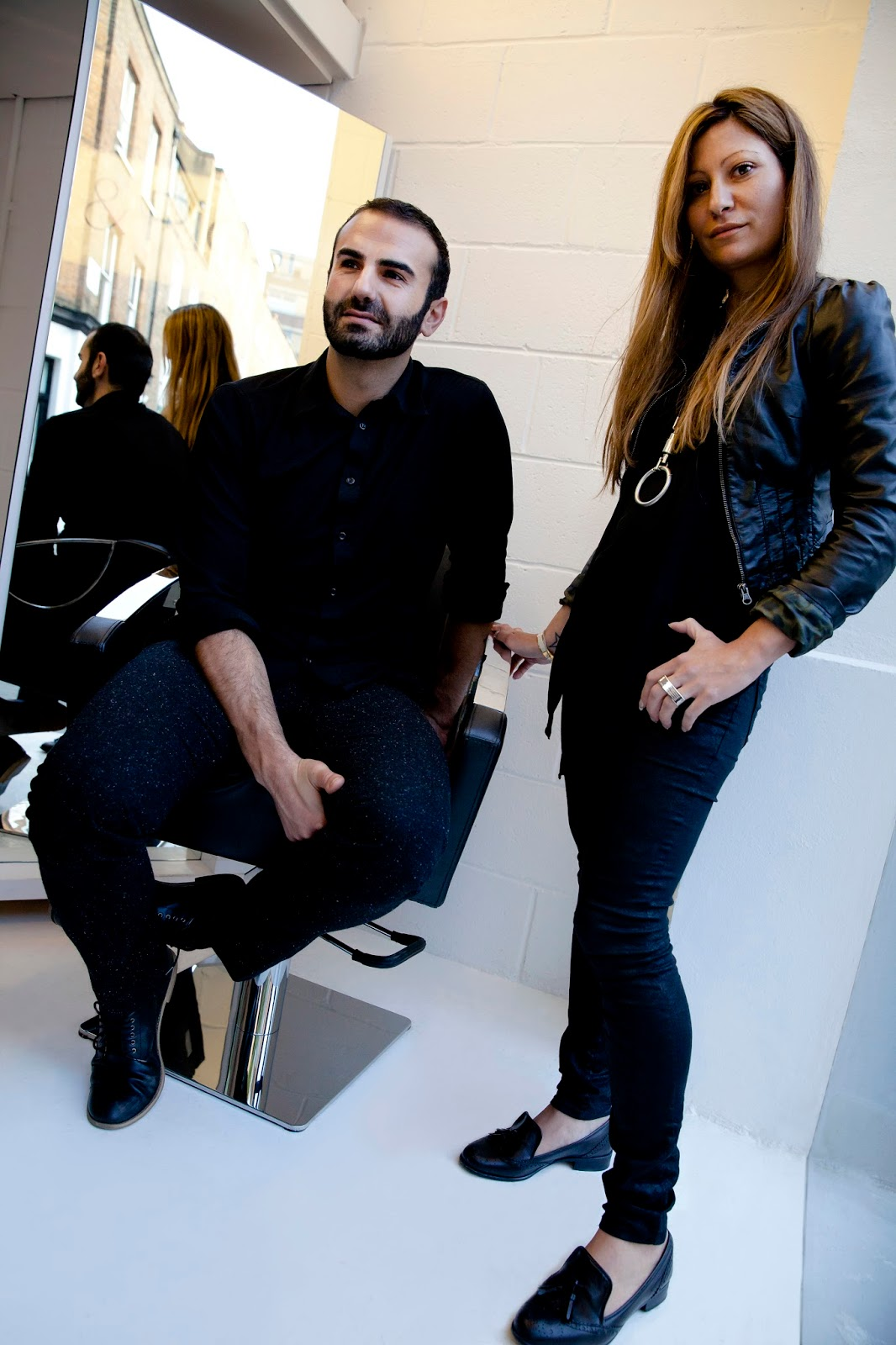 Stephen and Nadia at the salon