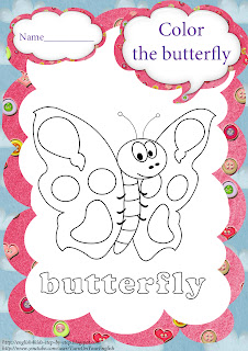 butterfly coloring for preschool