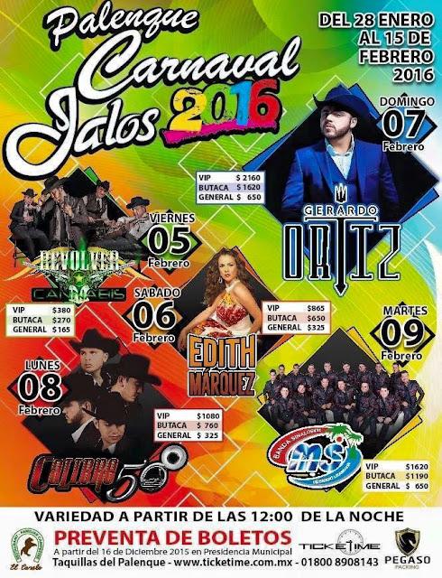 palenque carnaval jalos 2016