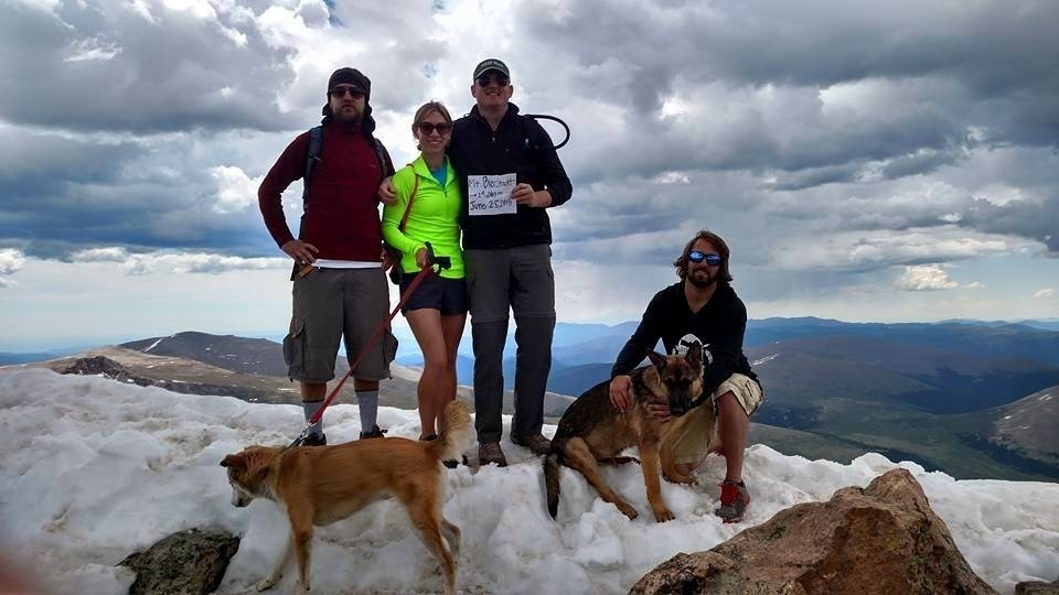 The group was ready for an extreme hike, but they couldn't have prepared for the tragedy that was to befall them. - This Dog Died Saving His Owner From A Lightening Strike, The Last Photo Broke My Heart.