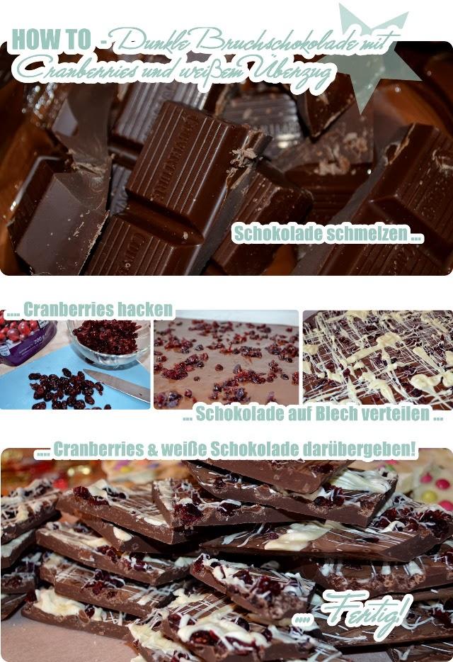 How To - weiße Bruchschokolade mit Smarties