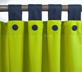 Cortina tela microfibra colores a elección