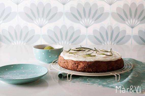 receta dulce: tarta de calabacín y lima