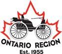 image Ontario Region Antique Automobile Club of America Logo Red Maple leaf with black Car superimposed