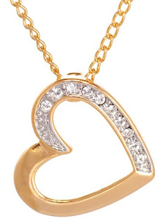 Gold Plated Crystal Heart Pendant