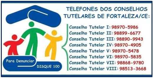 Telefones dos Conselhos Tutelares de Fortaleza/CE