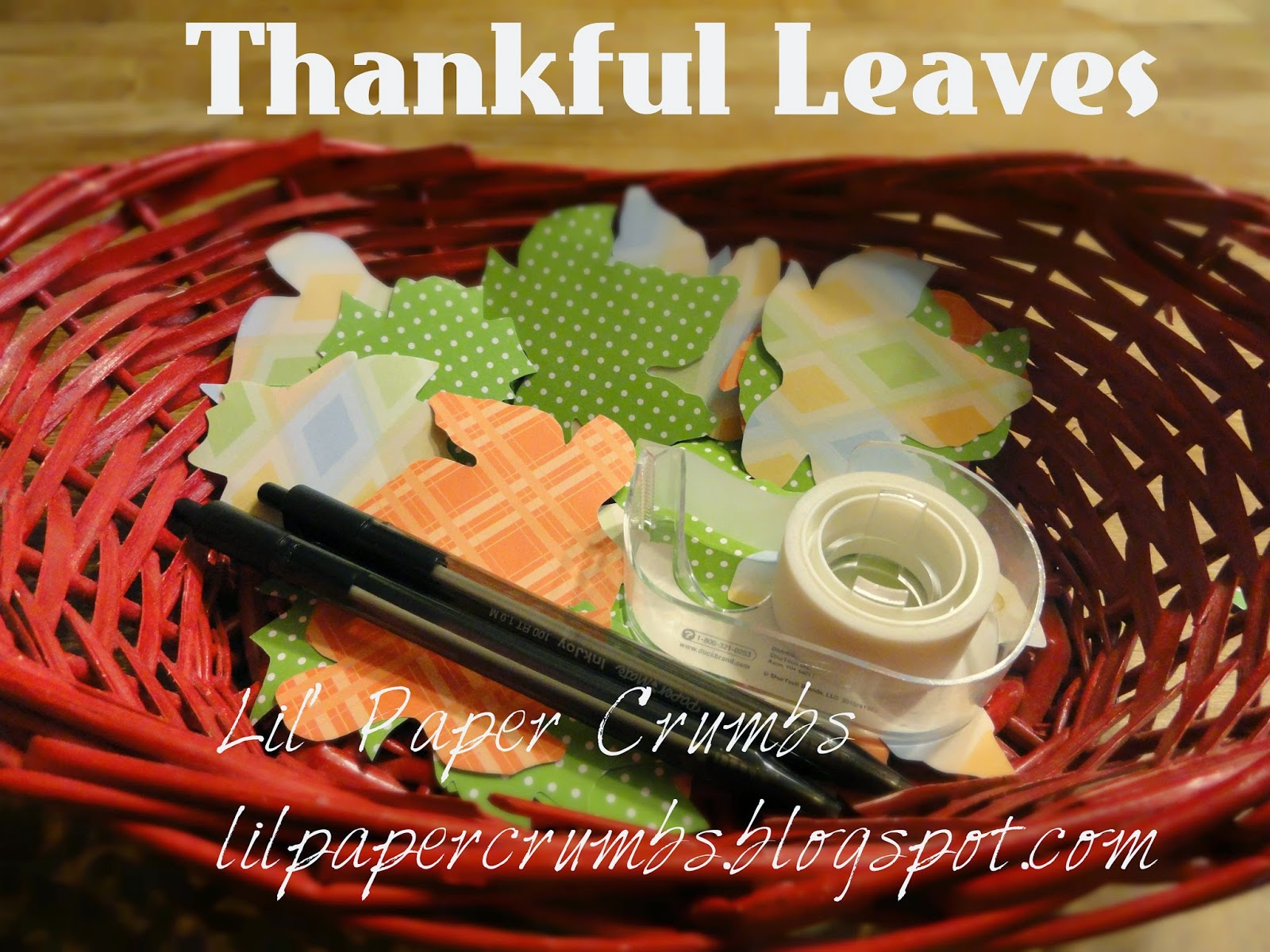 Thankful Leaves @lilpapercrumbs.blogspot.com Free printable!