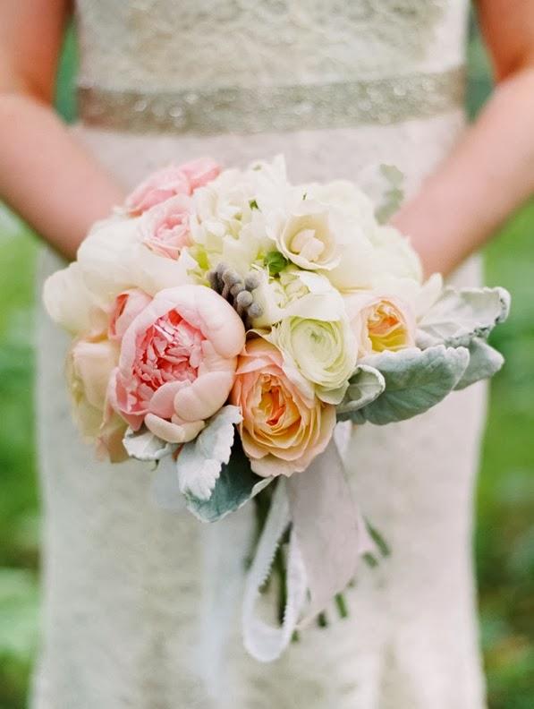 ramo de novia tonos pastel