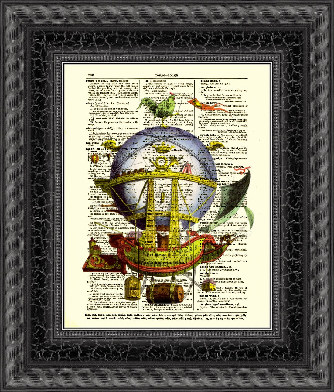 17-Upcycled-Hot-Air-Balloon-Belle-Old-Books-and-Dictionaries-in-Re-Imagination-Prints-www-designstack-co