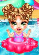Купание в бассейне - Онлайн игра для девочек