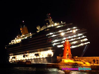 Tragedi Titanic Terulang, Penumpang Kapal Concordia Berebut Pelampung