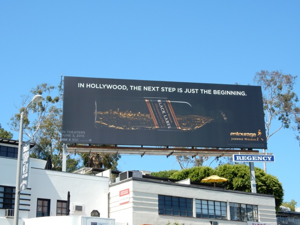 Johnny Walker Black Label Entourage movie tie-in billboard
