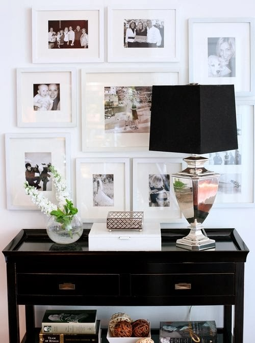 above a console table or chest in an entry or hall makes the perfect