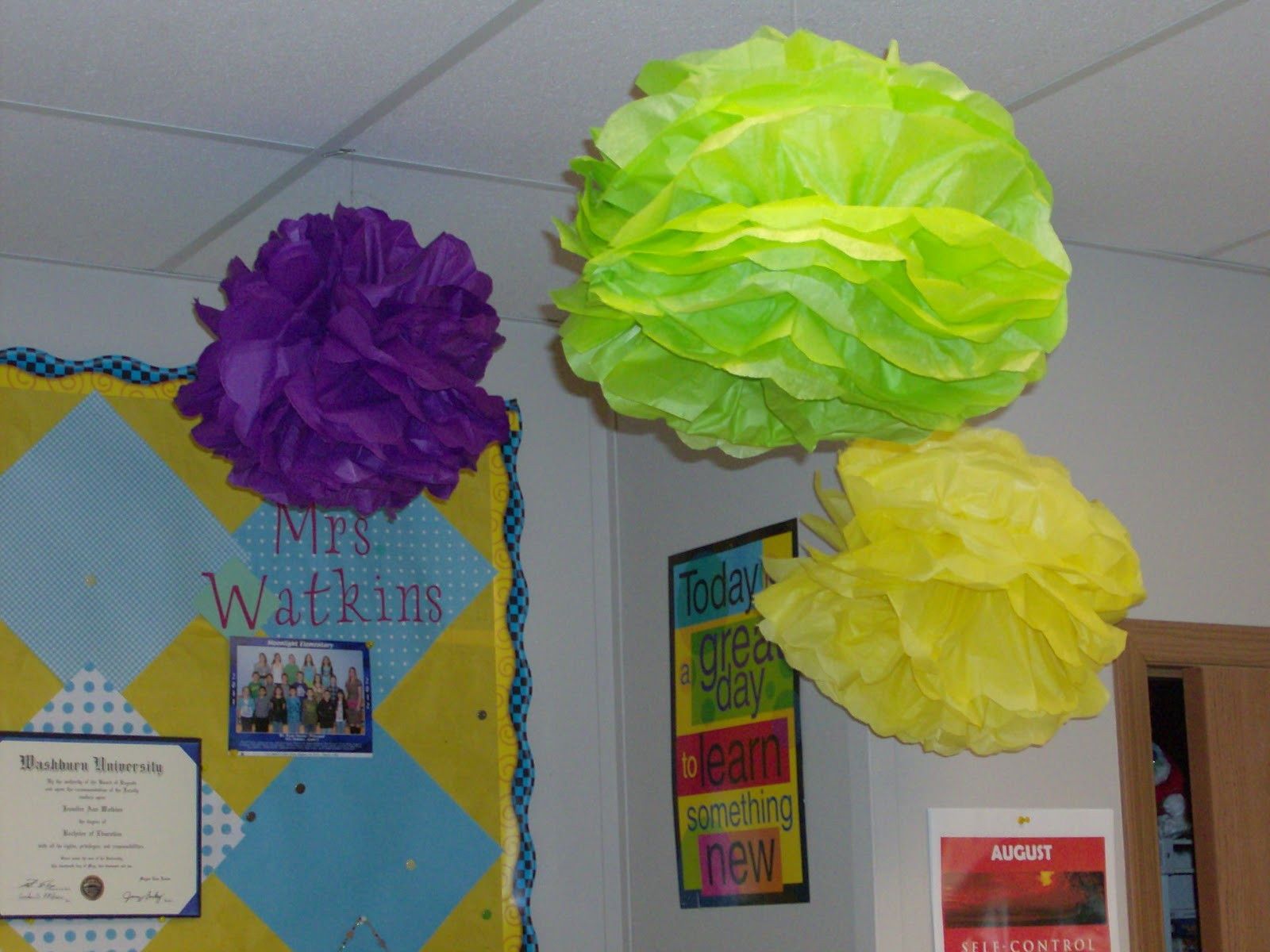 Where Learning Is Fun Tissue Paper Flowers