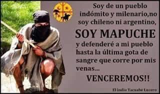 Liberación al pueblo hermano Mapuche