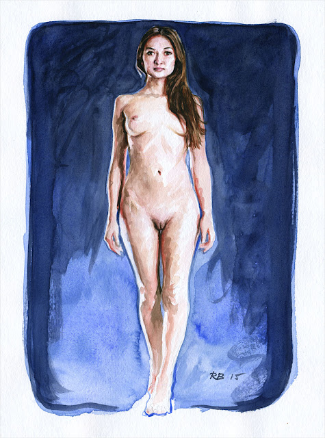 René Bui - Etude de nu à l'aquarelle 150143 - 2015