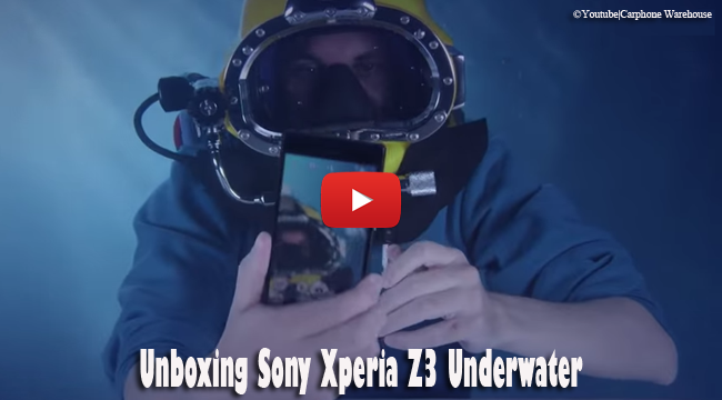 Watch Unboxing Sony Xperia Z3 Underwater
