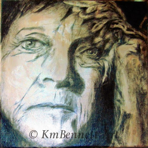 Painting Angel-Compassion progress