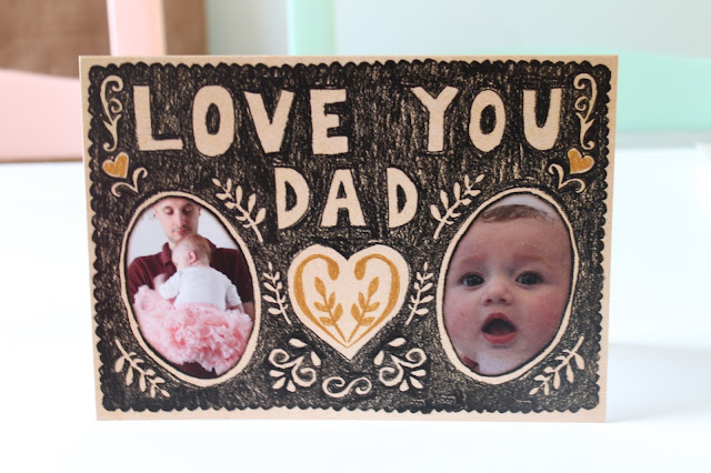 personalised photo Father's Day card from Moonpig
