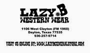 Thank You Lazy B Western Wear & Tack!