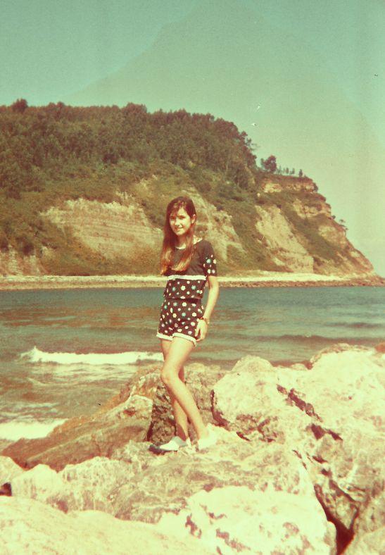 Playa de Rodiles (Asturias) en los años 90