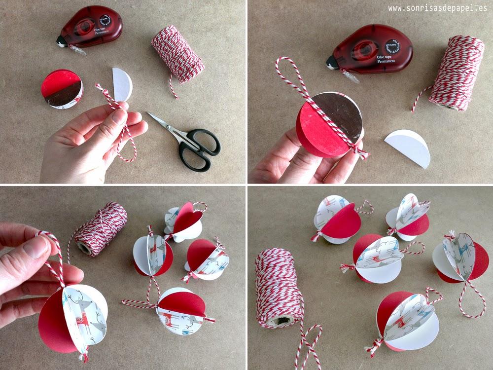 tutorial adornos navideos papel
