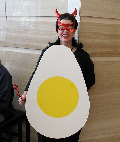 Deviled Egg DIY Halloween Costume by Serious Eats