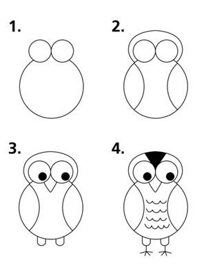 the homeschool voyager let 39 s draw owls we did it