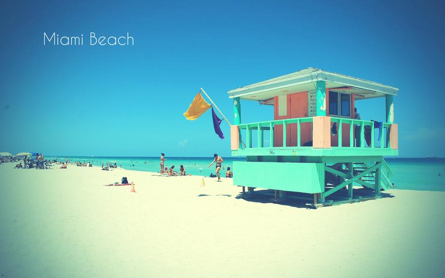 retro miami beach wallpaper online