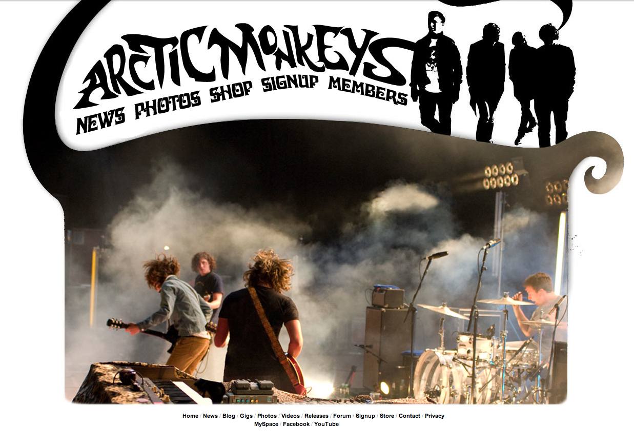 FMP: Looking at a range of Inspirational Band Websites