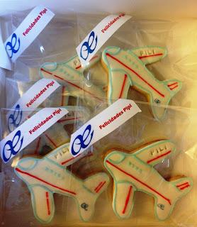 galletas decoradas, galletas avión; galletas fondant, dulces; avión