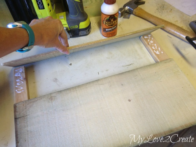 adding wood