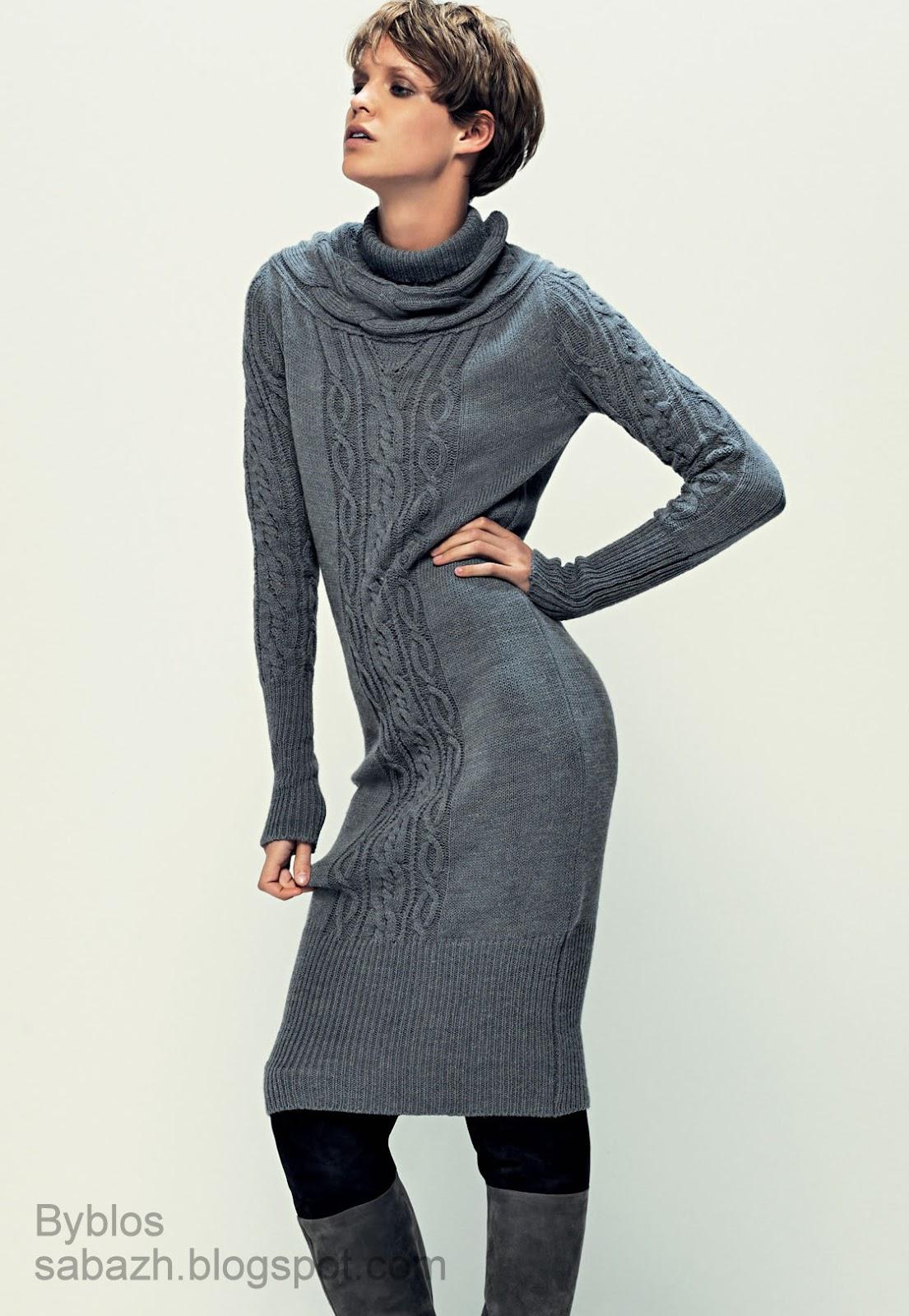 Вязаные платья 2012 2013