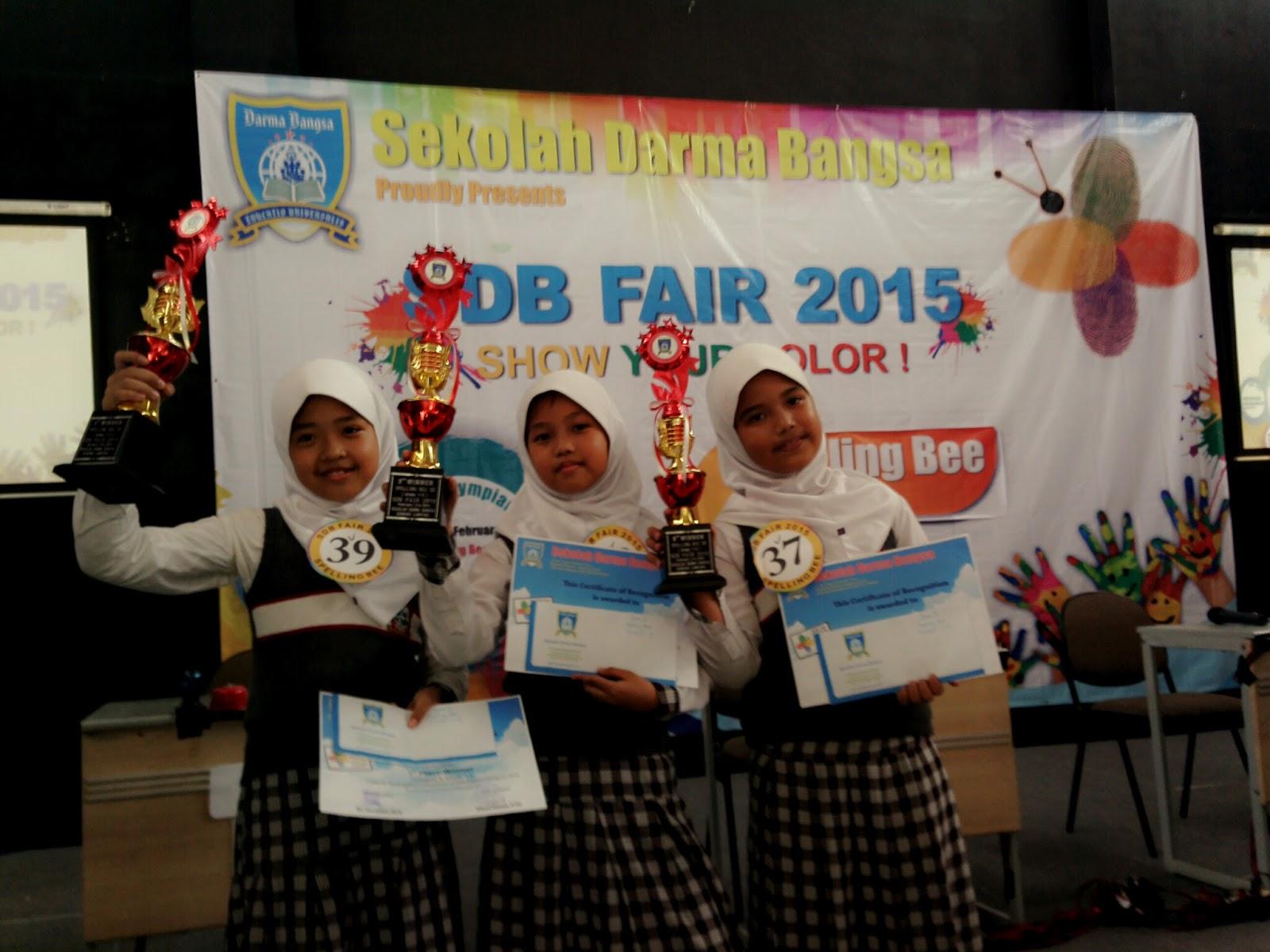 Siswa-siswi SD Islam AZ Zahra Bandar Lampung Juarai Lomba Spelling Bee 2015