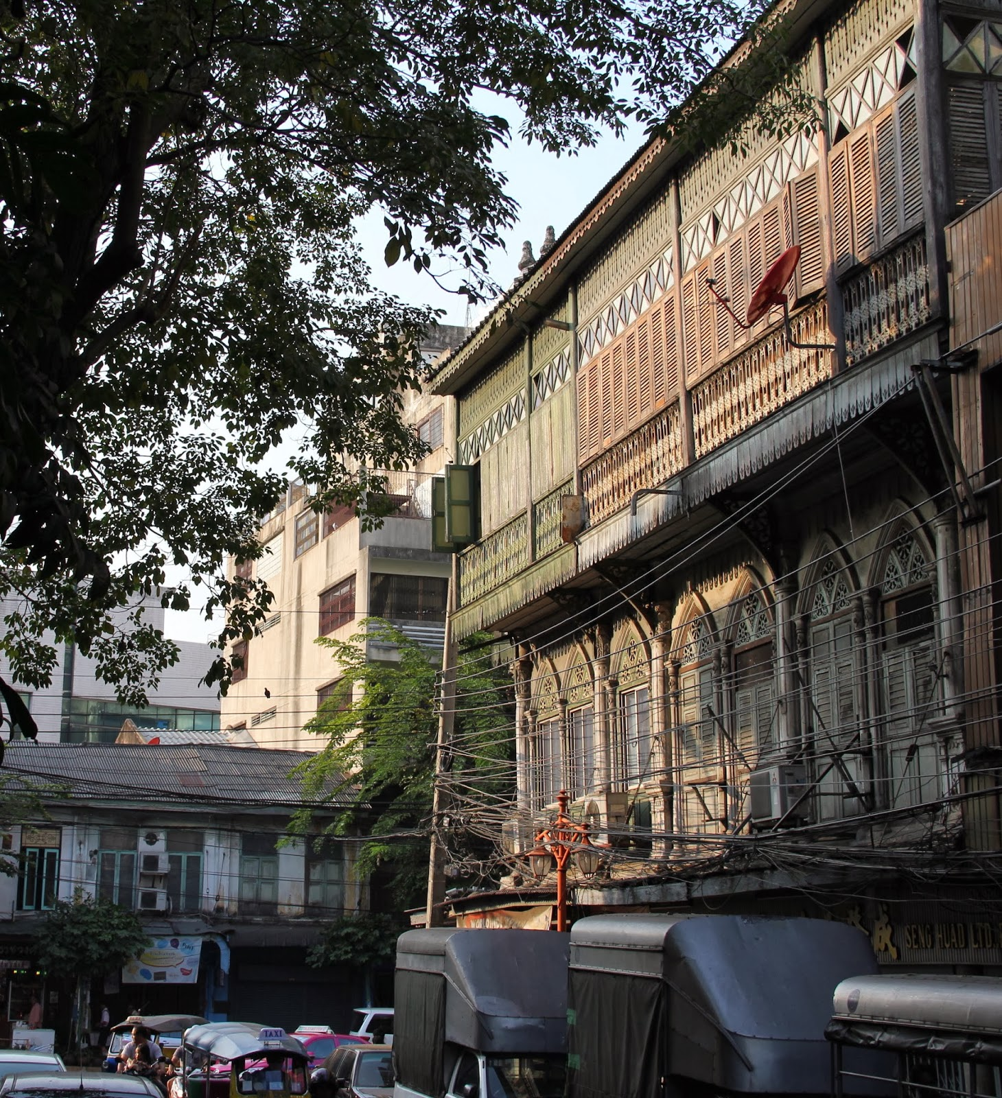 Historic buildings in Bangkok's Chinatown.
