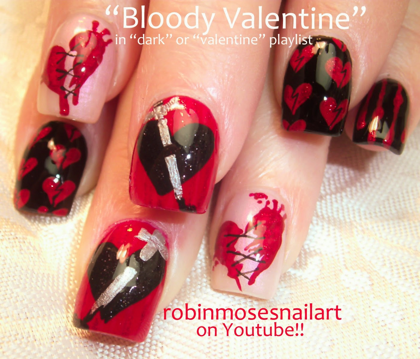Robin Moses Nail Art Valentine Nails Valentines Day