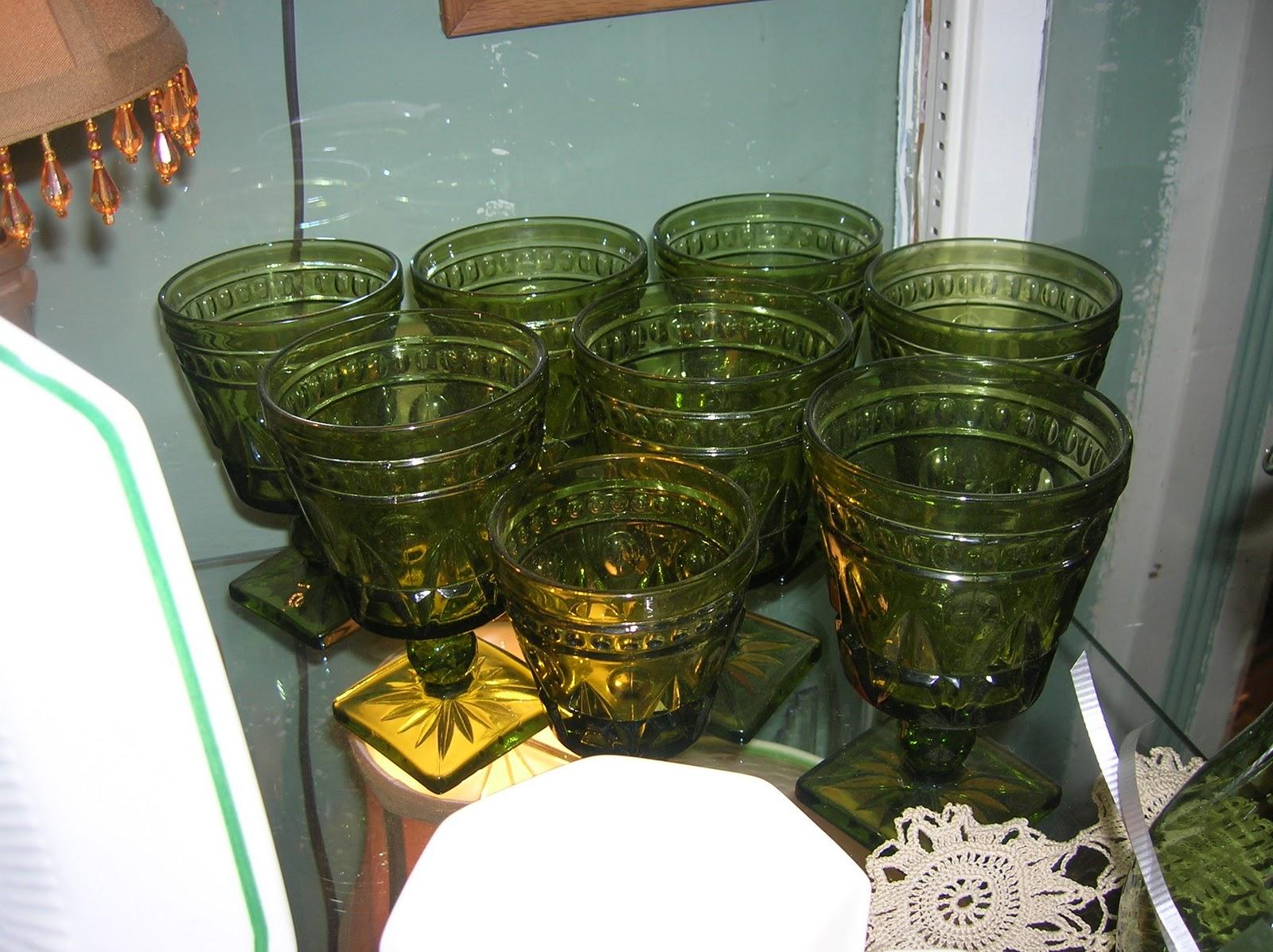 Shabby Shoppe Talk: Christmas China and Green Glass