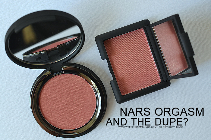 NARS Blush Orgasm Dupes - It Cosmetics Pretty in Peony - Swatches