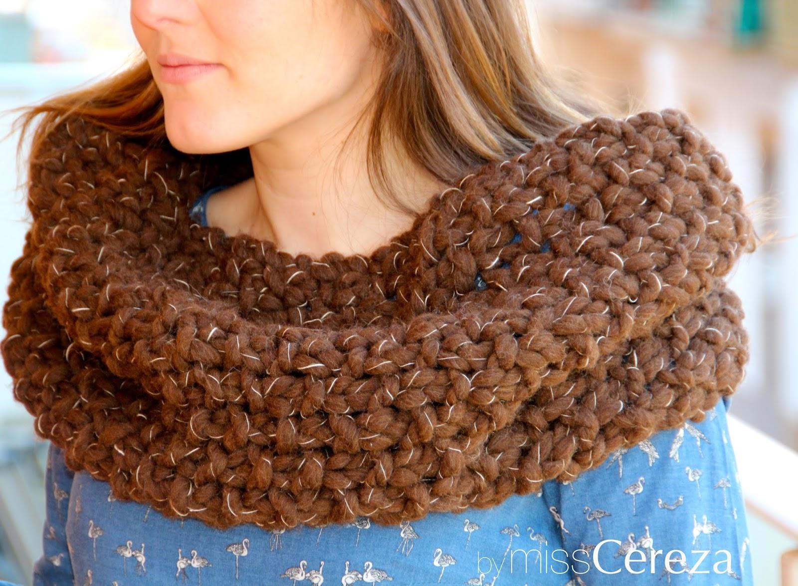 bufanda de lana natural