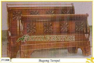 Tempat tidur kayu jati ukir jepara Bagong Tempel murah.Jakarta