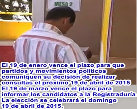 COLOMBIA: El 19 de enero vence plazo para que partidos y movimientos políticos comuniquen decisión