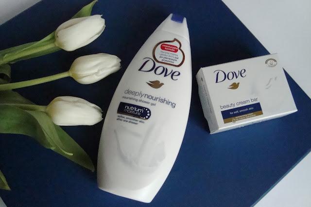 Kultowe produkty DOVE - ODŻYWCZY ŻEL POD PRYSZNIC DOVE DEEPLY NOURISHING i Kostka myjąca