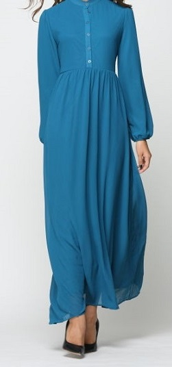 NBH0268 FADWAH MAXI DRESS (NURSING FRIENDLY)