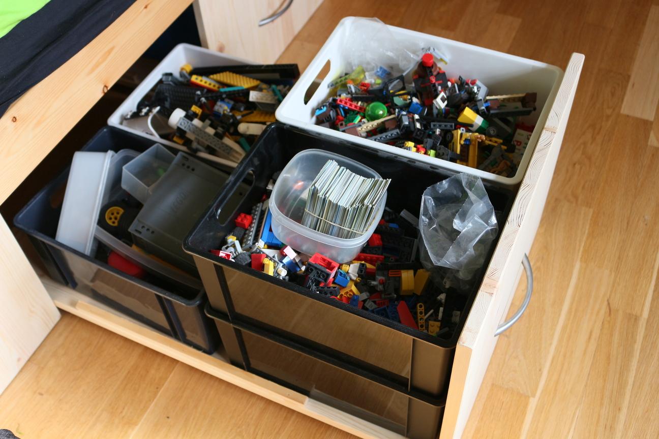 Krea Krumspring: Børneværelset: LEGO-opbevaring