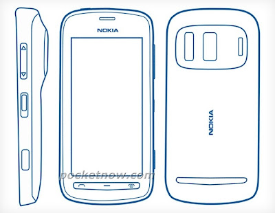 croquis nokia 803 smartphone remplacent N8