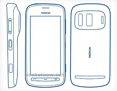 croquis nouveau smartphone nokia 803 schema