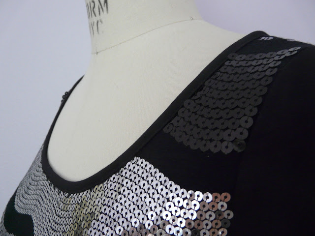 sequin cotton jersey top