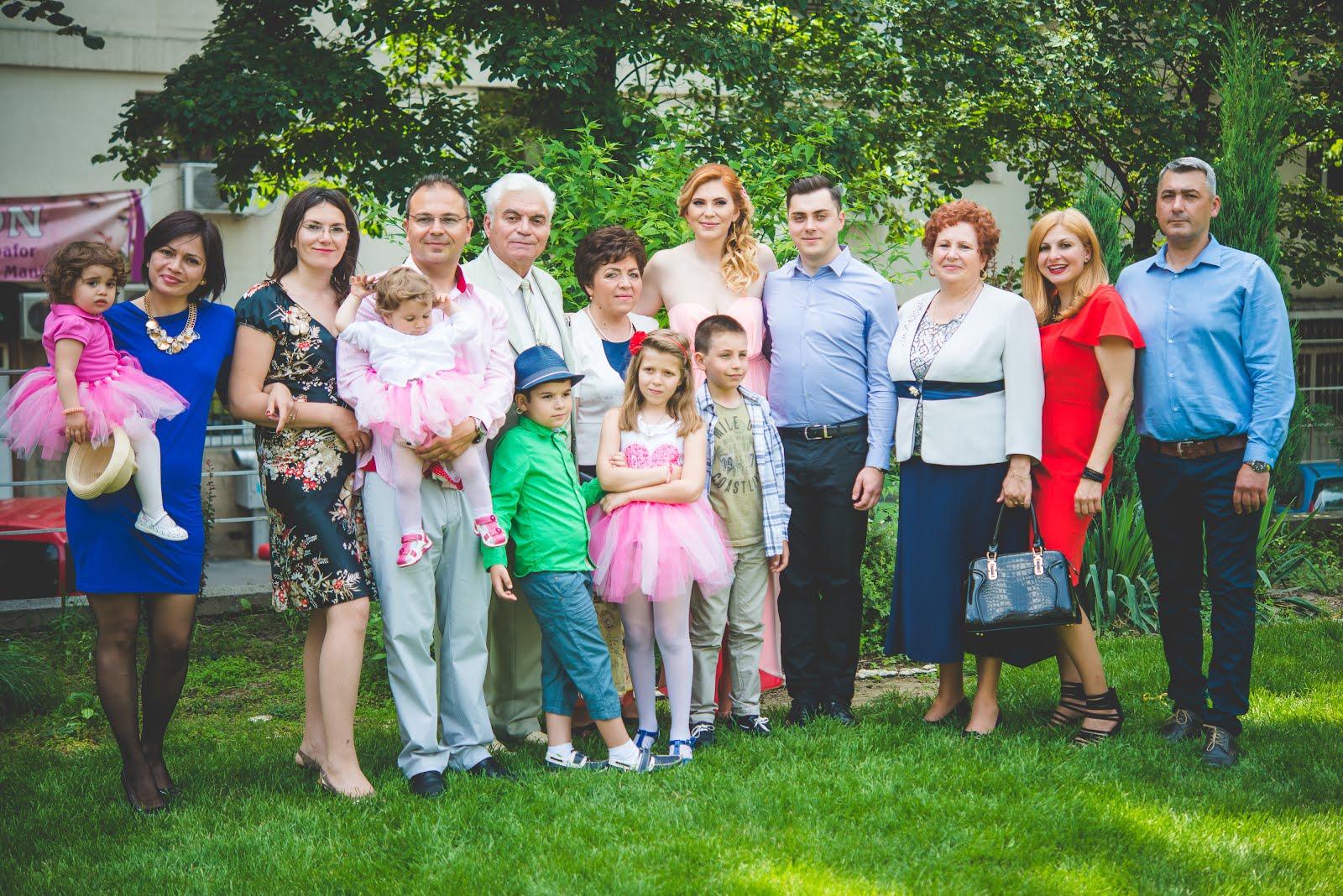 Familia DOBOSERU la nunta Ralucai, Iasi, 2016