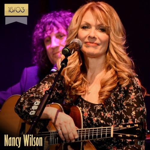 16 de marzo   Nancy Wilson - @NancyHeartMusic   Info + vídeos